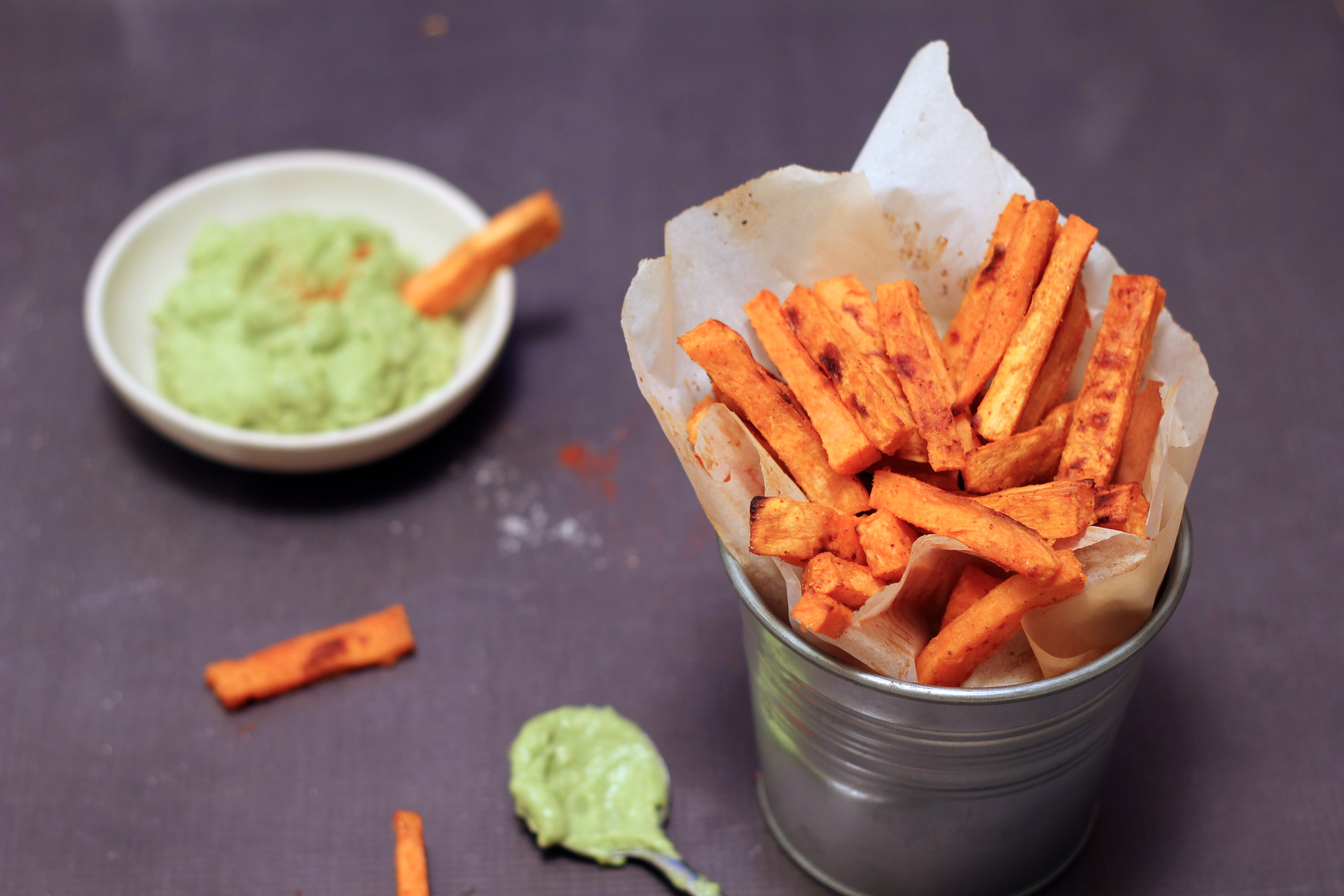 Sweet Potato Fries with Avocado Aioli | Simply Whole Foods